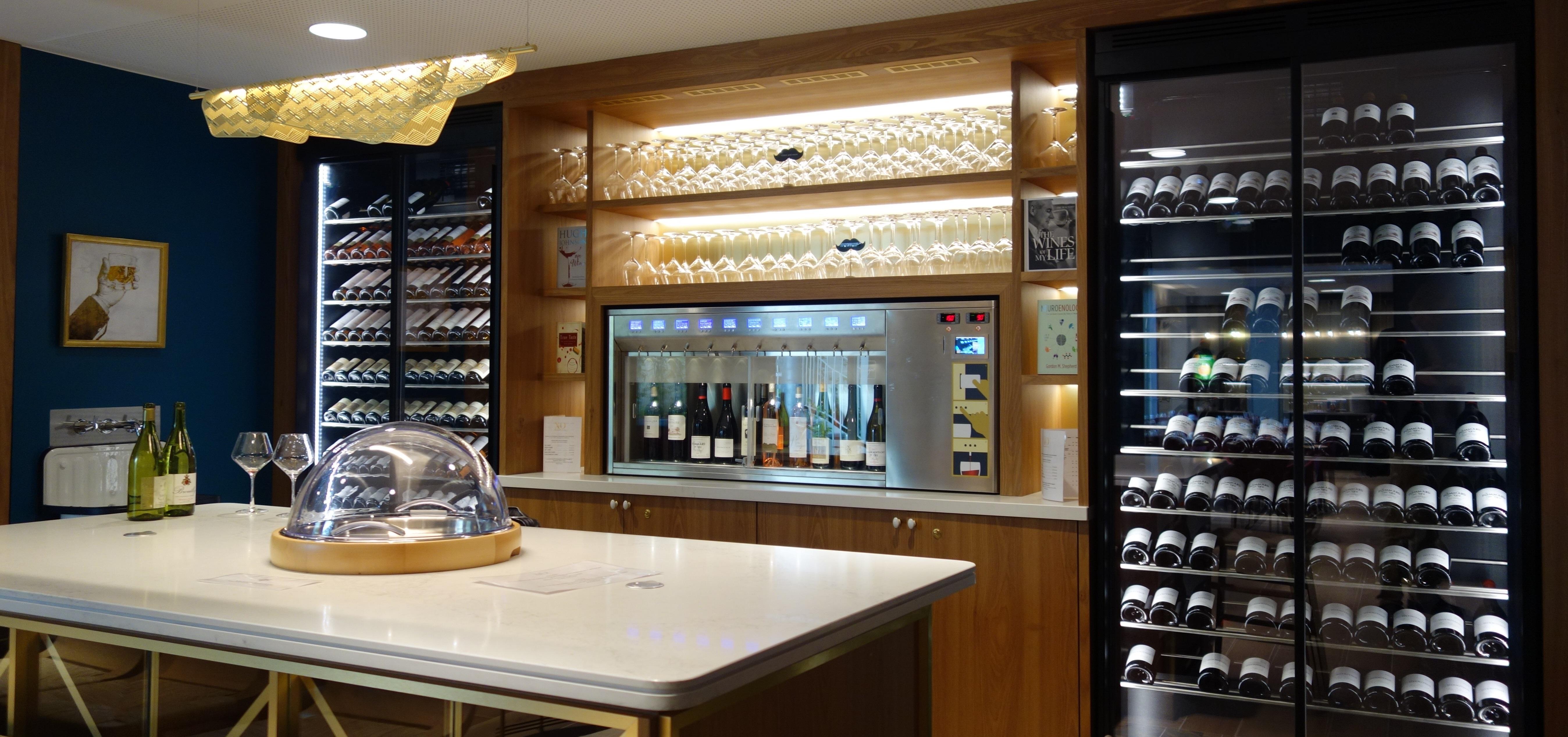 Hotel XO, Distributeur de vin au verre modèle Sur-Mesure