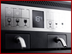 controle température distributeur vin au verre modulaire