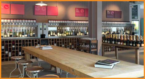 machine de service de vin au verre