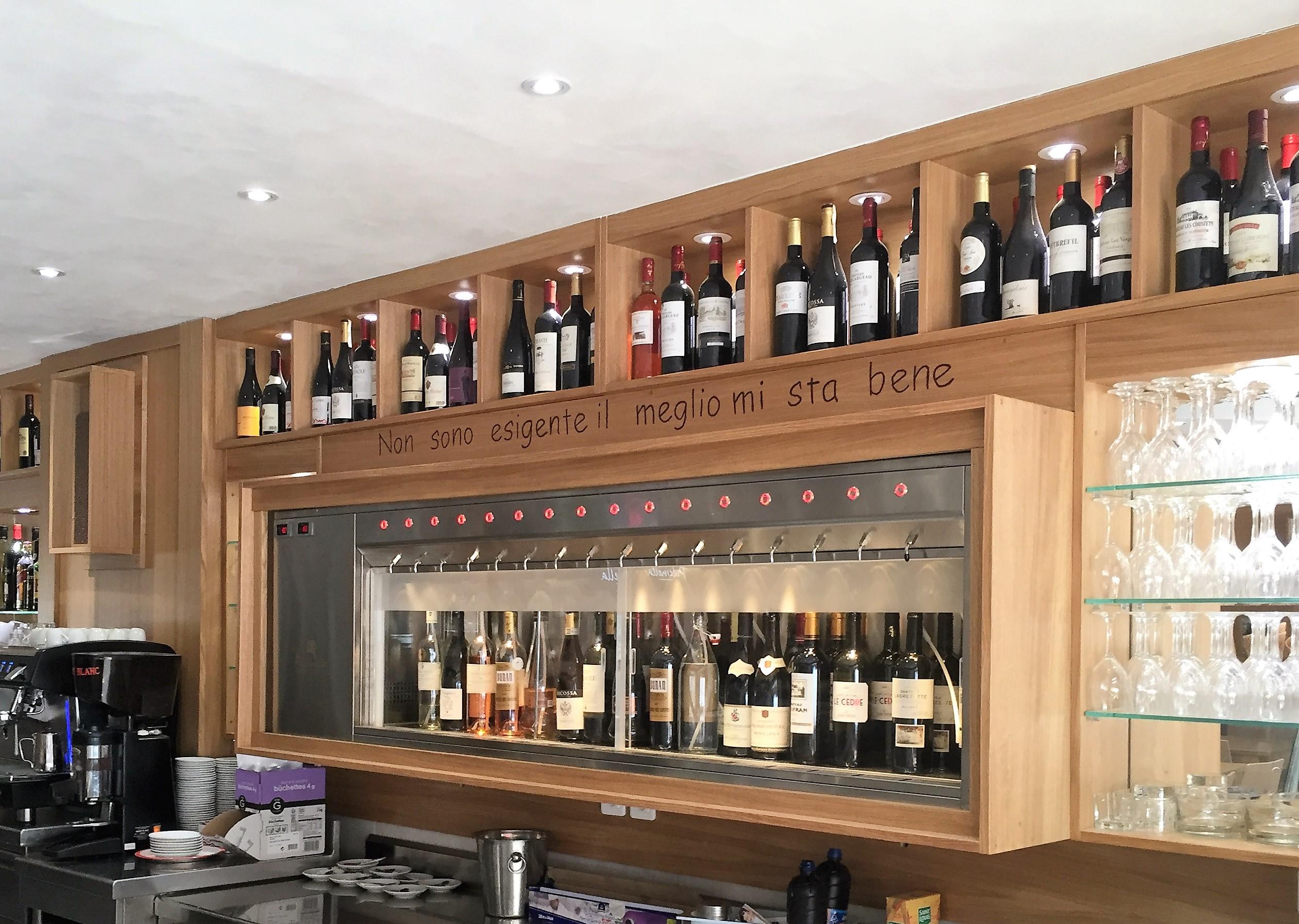 Vin au verre Bytheglass restaurant Italien Centre Bourse